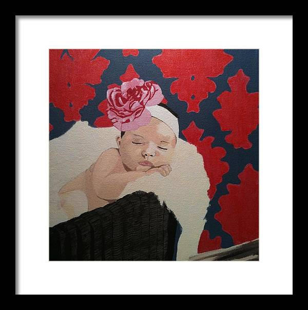 Baby Framed Print featuring the painting Lillee by Chris Cargill