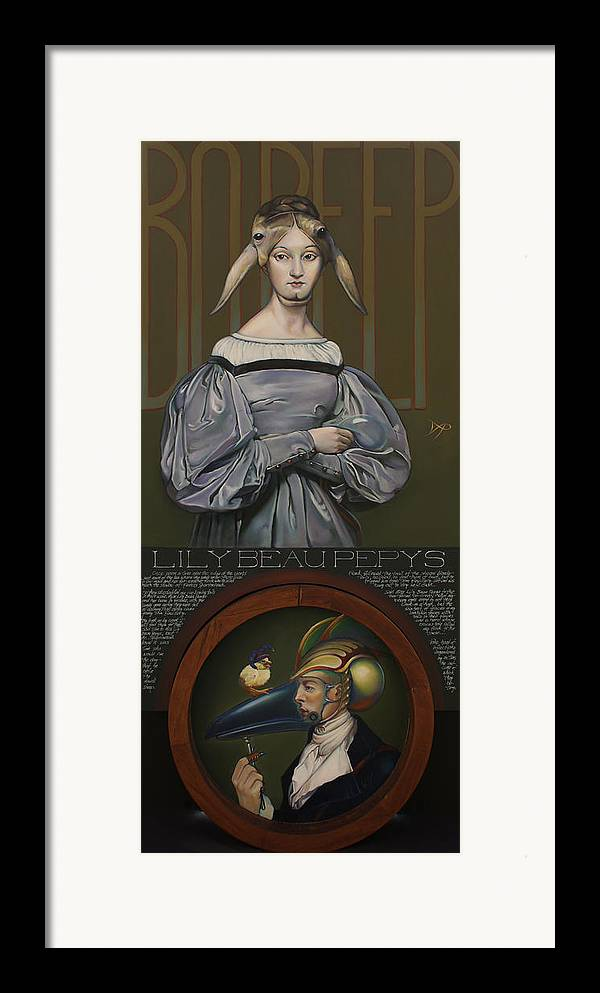 Sheep Framed Print featuring the painting Lily Beau Pepys by Patrick Anthony Pierson