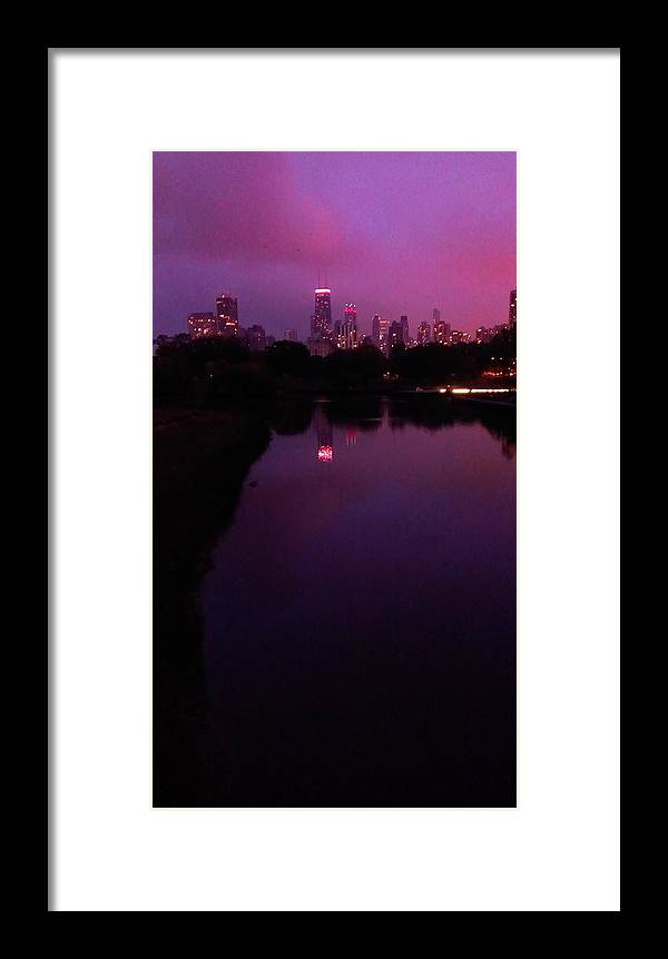 Chicago Framed Print featuring the photograph Lincoln Park In Chicago - Late Summer Dusk by Steven Cull