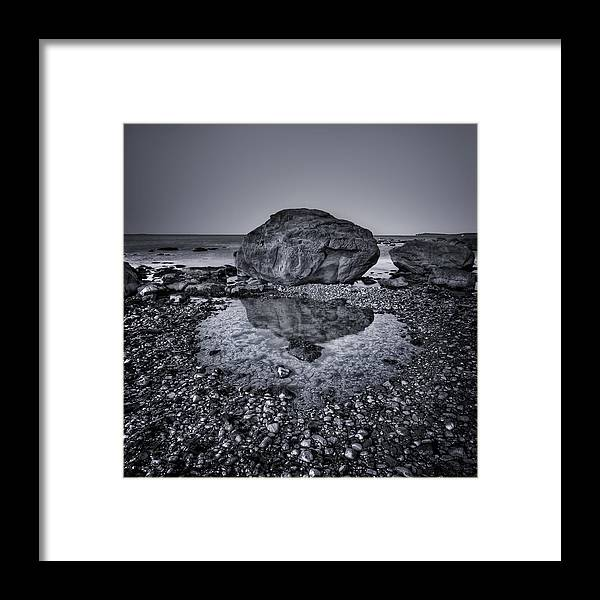 Rock Framed Print featuring the photograph Liquid State by Evelina Kremsdorf