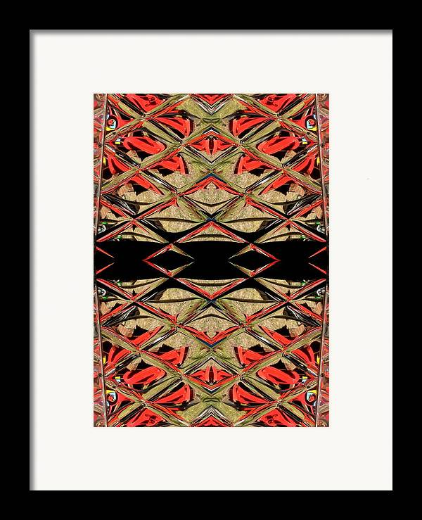 Red Framed Print featuring the ceramic art Lit0911001008 by Tres Folia