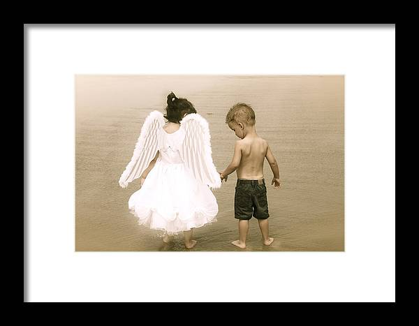 Little Framed Print featuring the photograph Little Angels by Snow White