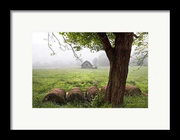 Appalachia Framed Print featuring the photograph Little Barn by Debra and Dave Vanderlaan