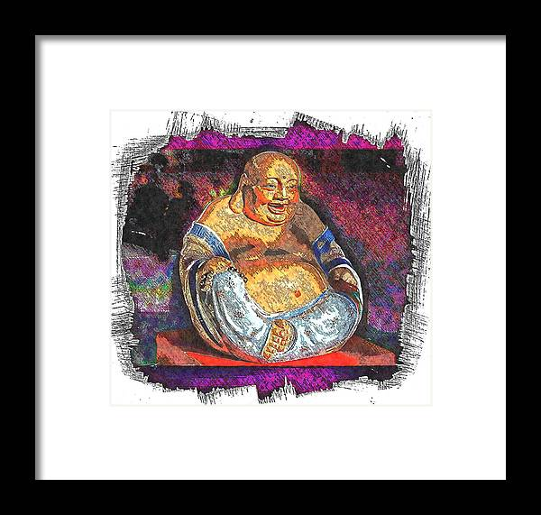 Buddhas Framed Print featuring the photograph Little Buddha - 2 by Larry Mulvehill