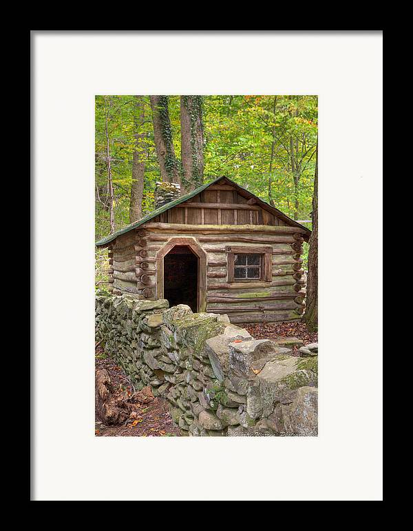 Log Cabin Framed Print featuring the photograph Little Cabin On Little River by Charles Warren