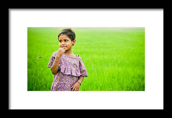 Girl Framed Print featuring the photograph Little Girl by Santu Mondal