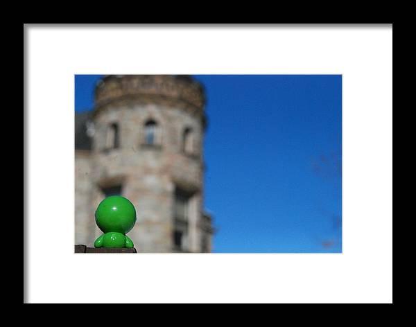 Framed Print featuring the photograph Little Green Man 2 by Ben Wrobel