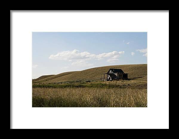 Farmhouse Framed Print featuring the photograph Little House On The Plains by Lorraine Devon Wilke