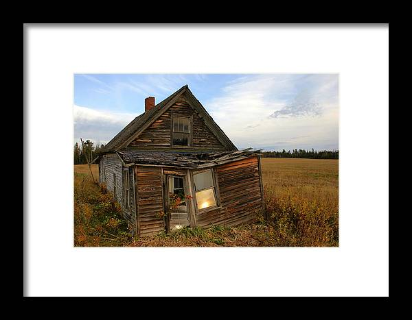 House Framed Print featuring the photograph Little House On The Prarie by John Pierce Jr
