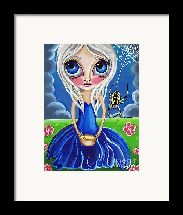 Little Framed Print featuring the painting Little Miss Muffet by Jaz Higgins