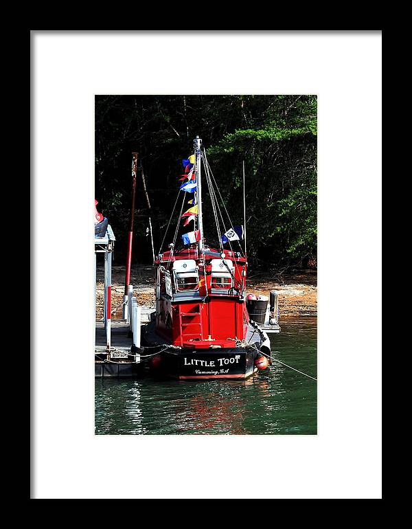 Boat Framed Print featuring the photograph Little Red Boat by Marc Mesa