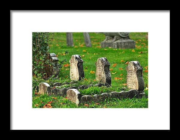 Graveyard Framed Print featuring the photograph Little Sadness by Valarie Davis