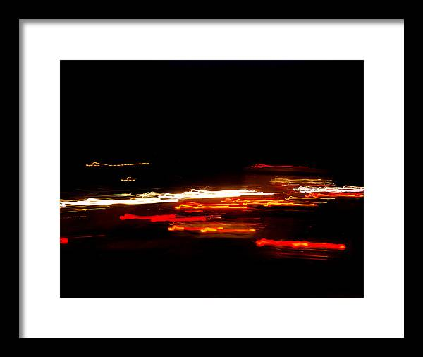 Artistic Framed Print featuring the photograph Living In Fast Forward by Maggy Marsh