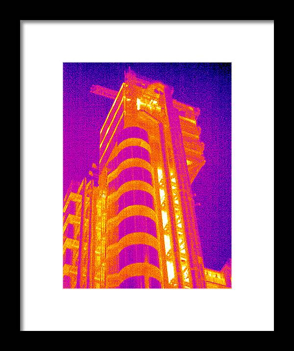 Lloyd's Building Framed Print featuring the photograph Lloyd's Of London, Uk, Thermogram by Tony Mcconnell