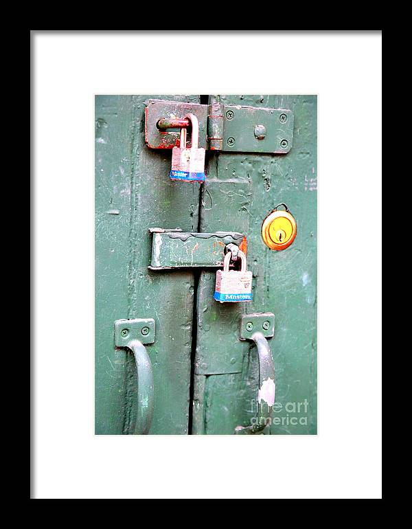 New Orleans Framed Print featuring the photograph Locked Tight by Carol Groenen