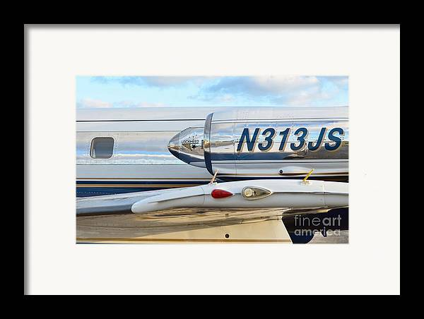 Lockheed Framed Print featuring the photograph Lockheed Jet Star Engine by Lynda Dawson-Youngclaus