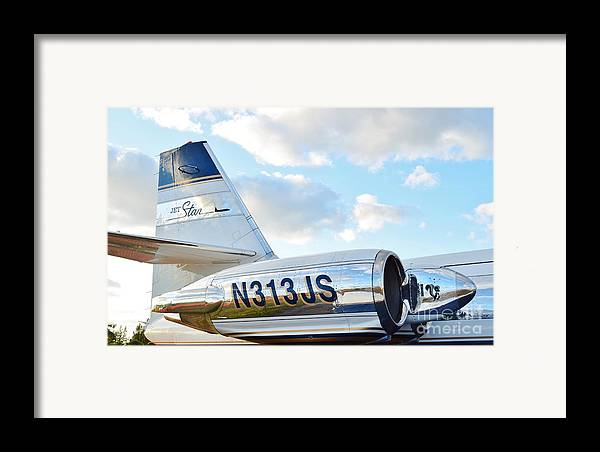 Lockheed Framed Print featuring the photograph Lockheed Jet Star by Lynda Dawson-Youngclaus
