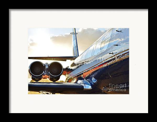 Lockheed Framed Print featuring the photograph Lockheed Jet Star Side View by Lynda Dawson-Youngclaus