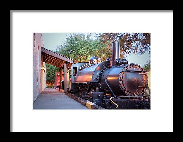 Locomotive Framed Print featuring the photograph Locomotive by David Troxel