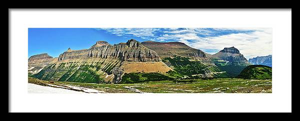 Glacier National Park Framed Print featuring the photograph Logan Pass Panorama by Greg Norrell