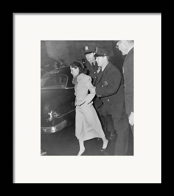 History Framed Print featuring the photograph Lolita Lebron B. 1919, Under Arrest by Everett