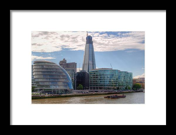 Shard Framed Print featuring the photograph London Assembly and Shard by Chris Day