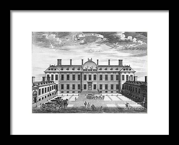 1714 Framed Print featuring the photograph London: Montagu House by Granger
