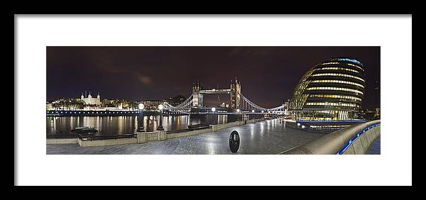 London Framed Print featuring the photograph London Panorama by Travel Images Worldwide