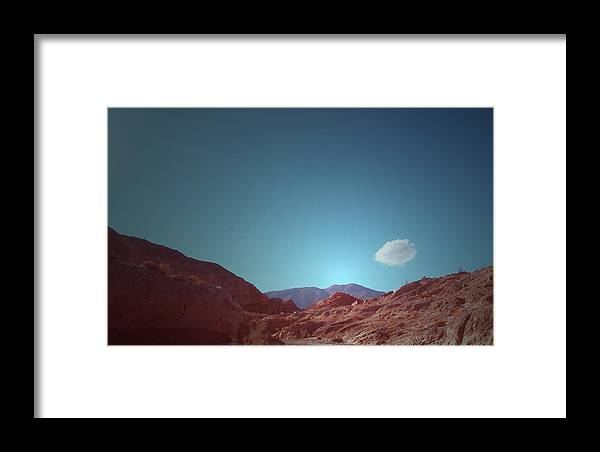 Framed Print featuring the photograph Lonely Cloud by Naxart Studio