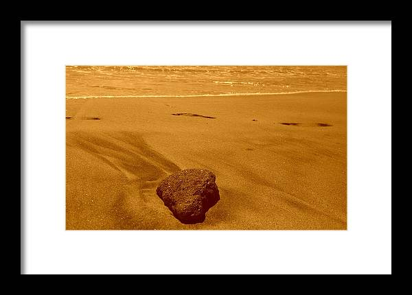 Rock Framed Print featuring the photograph lonely Rock by Darren Gomez