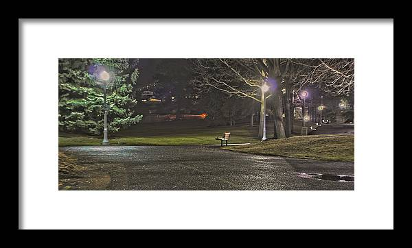 Framed Print featuring the photograph Lonely Walkway by Dan Quam