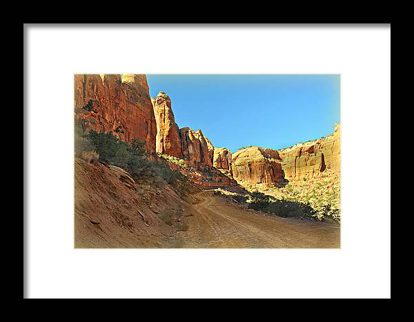 Moab Framed Print featuring the photograph Long Canyon 1 by Marty Koch