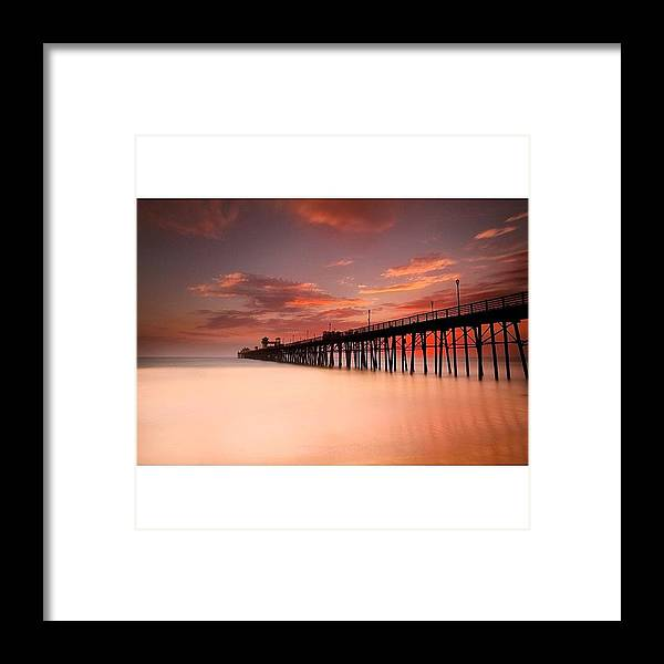 Framed Print featuring the photograph Long Exposure (180 Seconds) At The by Larry Marshall