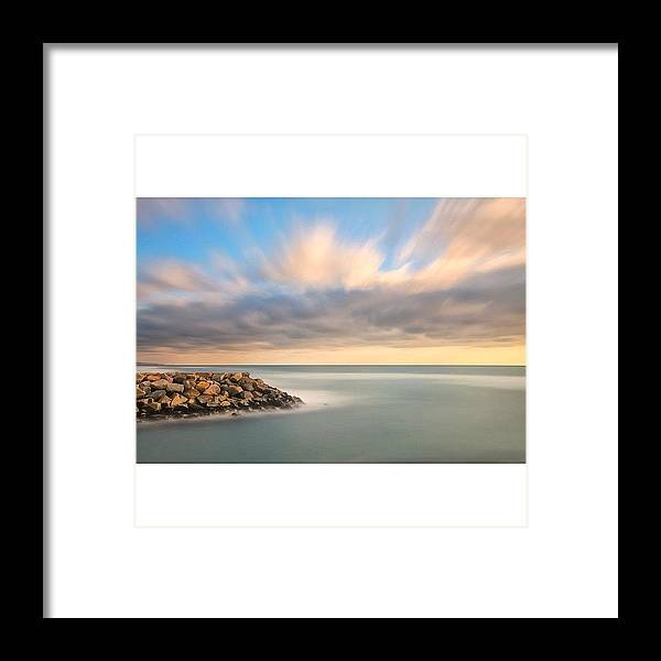 Framed Print featuring the photograph Long Exposure Shot From The North Ponto by Larry Marshall