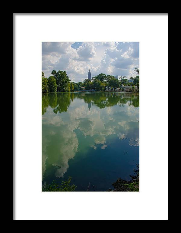 Piedmont Framed Print featuring the pyrography Long Reflection by Vincent Dale