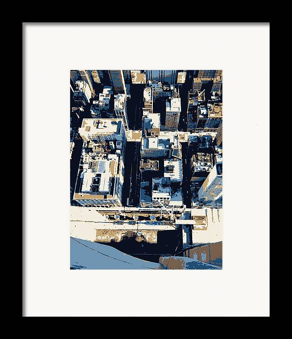 Empire State Building Framed Print featuring the photograph Looking Down Color 6 by Scott Kelley