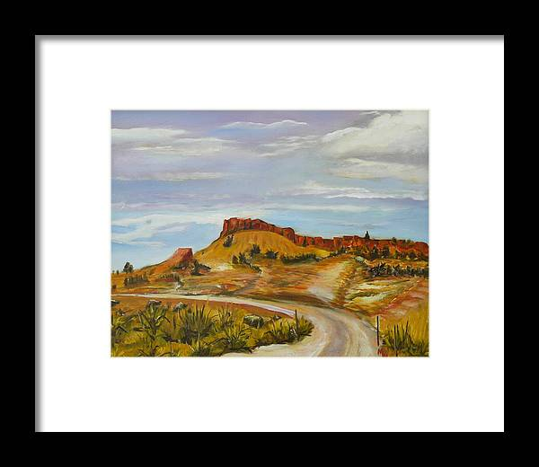 Desert Framed Print featuring the painting Looking For The Hoodoos by Mark Malone