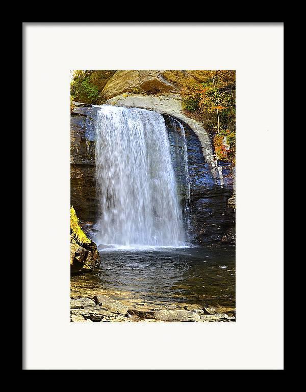 Autumn Framed Print featuring the photograph Looking Glass Falls by Susan Leggett