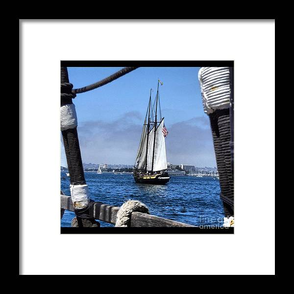 Ship Framed Print featuring the photograph Looking Out by Phil Huettner