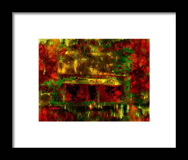 Looking Through Leaves Framed Print featuring the digital art Looking Through Leaves by Seth Weaver