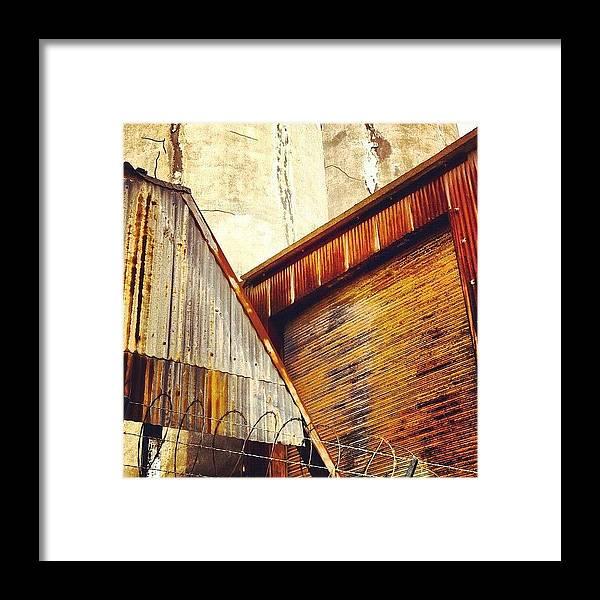 Industrial Framed Print featuring the photograph Looking Up by Julie Gebhardt