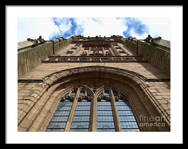 Cathedral Framed Print featuring the photograph Looking up to God by Steev Stamford