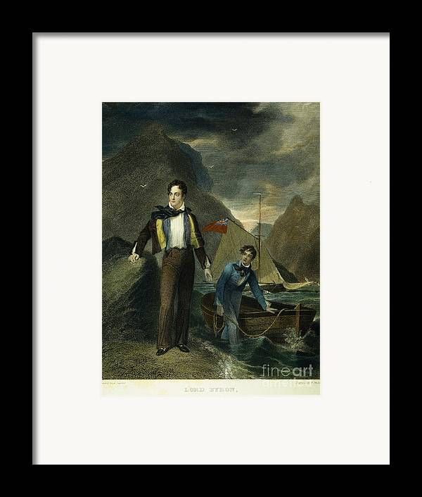 1807 Framed Print featuring the photograph Lord Byron by Granger