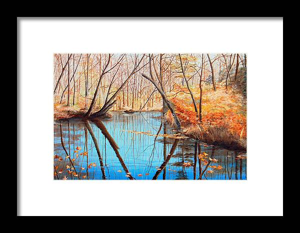 Autumn Framed Print featuring the painting Lord Culpepper's Creek by AnnaJo Vahle