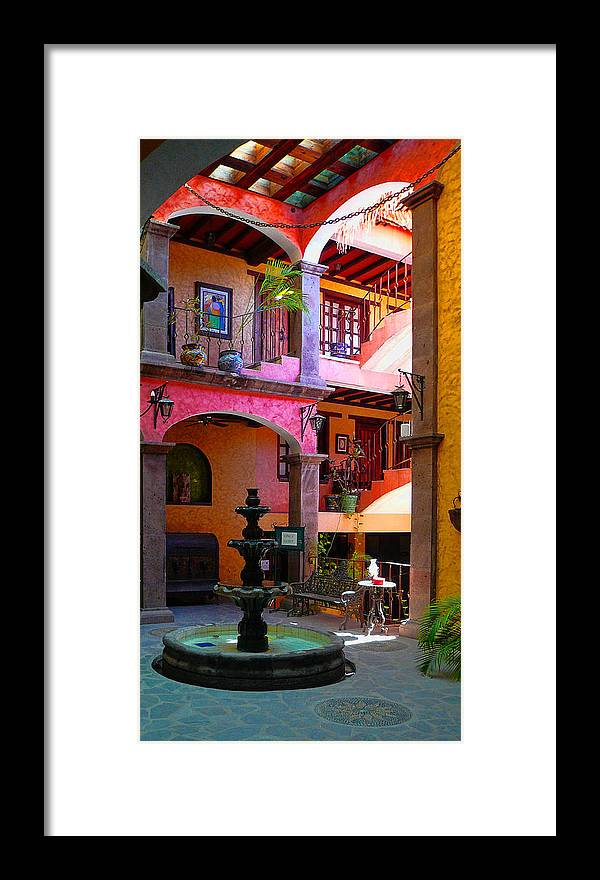 Baja California Framed Print featuring the photograph Loreto Hotel Lobby by Scott Massey