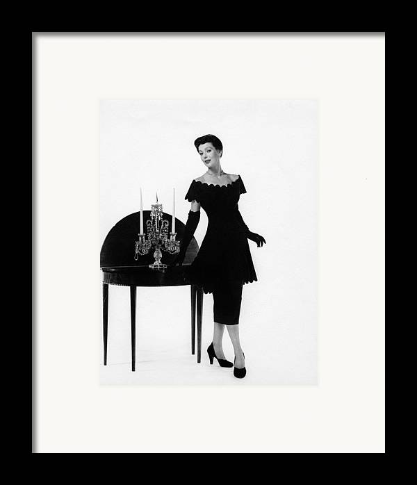 11x14lg Framed Print featuring the photograph Loretta Young, Ca. Late 1940s by Everett