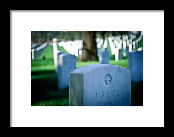 Cemetery Framed Print featuring the photograph Los Angeles Cemetery I by Heidi Reyher