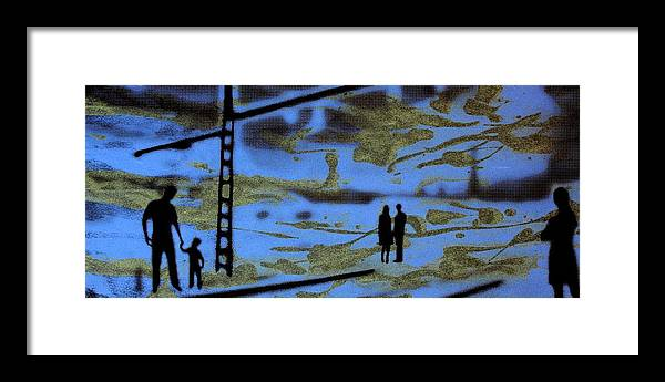 Silhouette Framed Print featuring the photograph Lost in translation - Serigrafia arte urbano by Arte Venezia