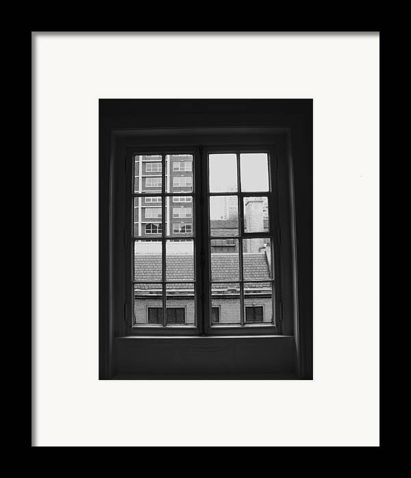 Window Framed Print featuring the photograph Lots Of Lines by Anna Villarreal Garbis