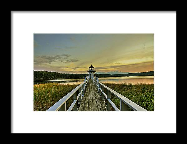 Landscape Framed Print featuring the photograph Love Walk by Brenda Giasson